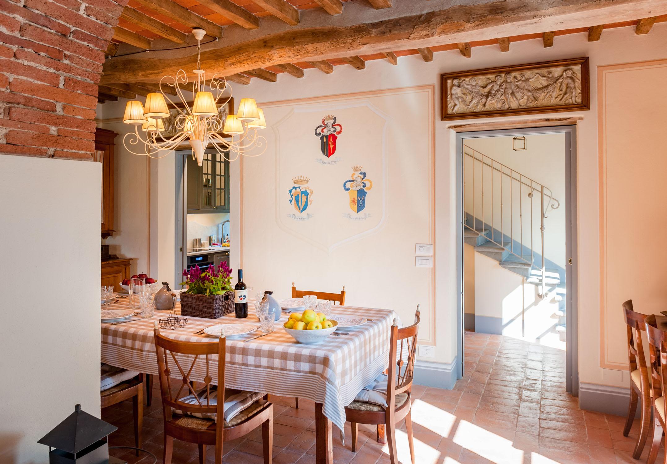 Una delle sale da pranzo dell'Arancera di Villa Grabau