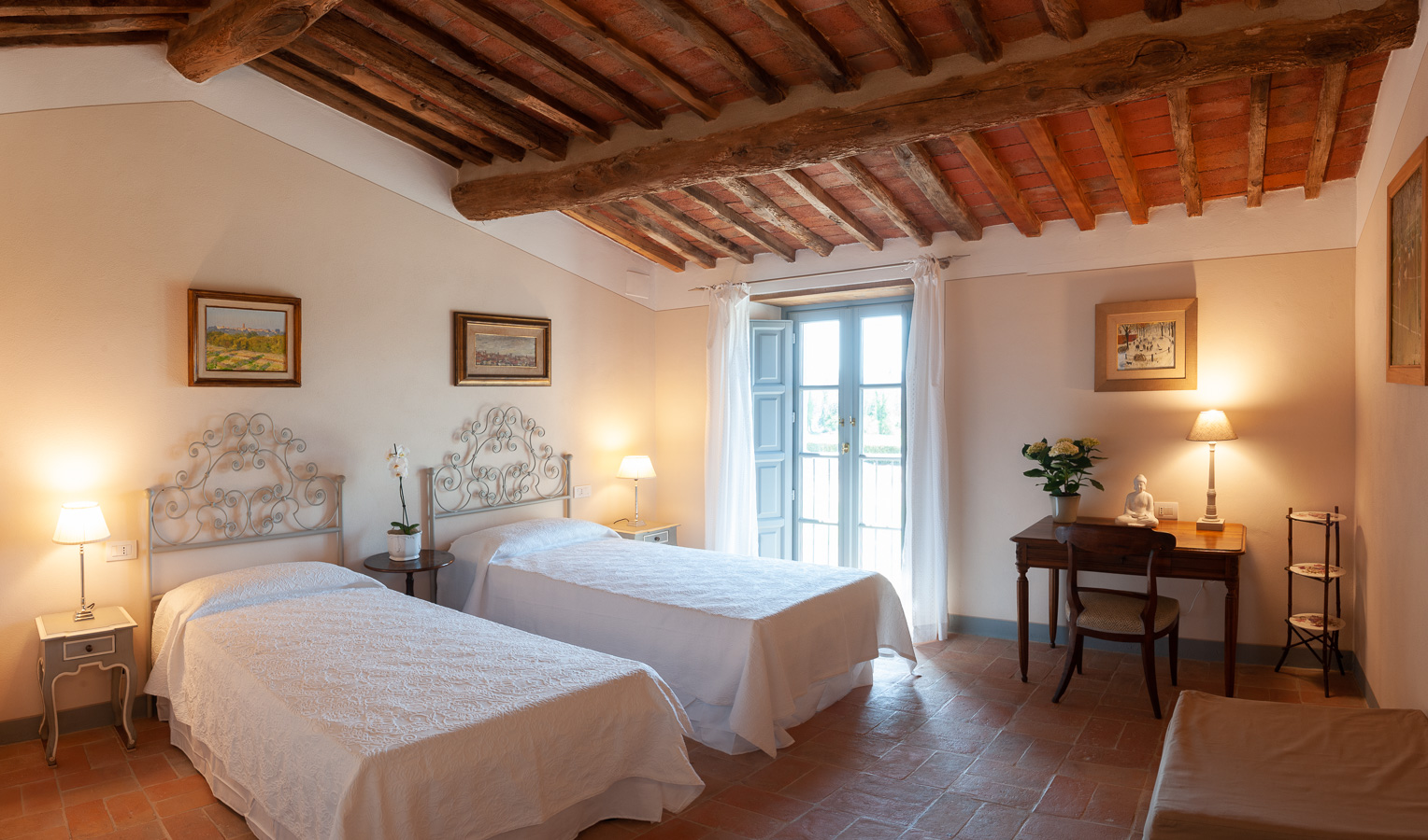 Camera doppia dell'Arancera di Villa Grabau